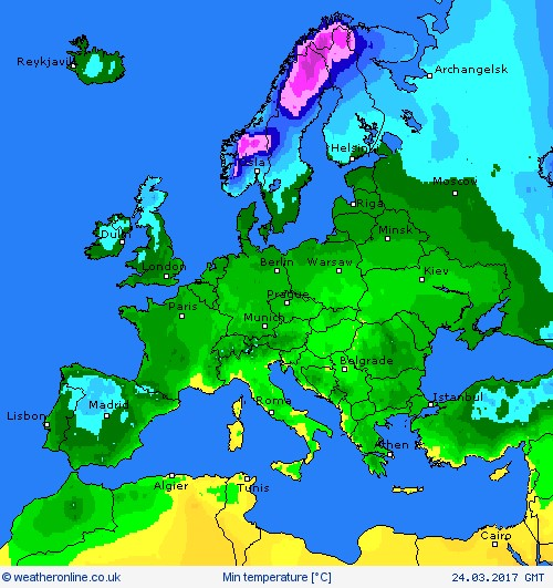 Weather outlook maps softagintelligence europe 24 march publicscrutiny Images