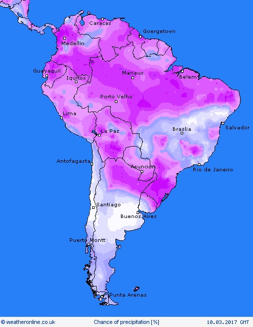 SOUTH AMERICA 10 MARCH
