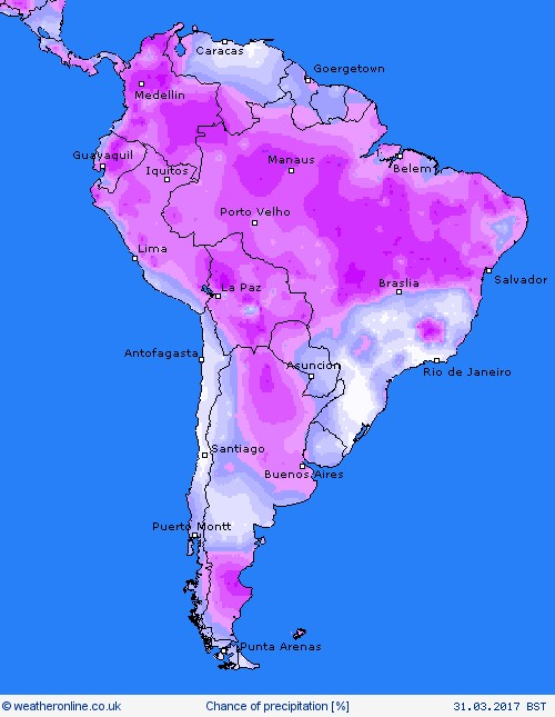 SOUTH AMERICA WEATHER
